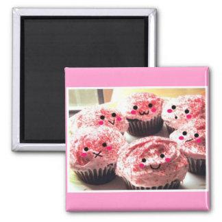 カップケーキの群集 マグネット