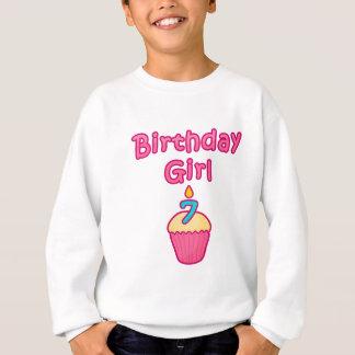 カップケーキの誕生日の女の子7 スウェットシャツ
