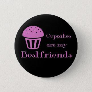 カップケーキは私のbestfriendsです 5.7cm 丸型バッジ