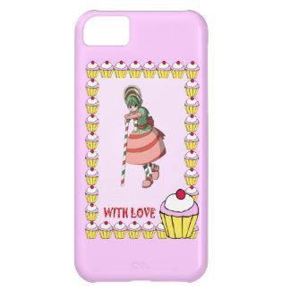 カップケーキを持つキャンディ・ケーンの女の子 iPhone5Cケース