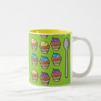 カップケーキスロット ツートーンマグカップ