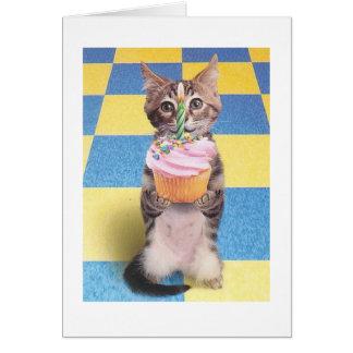 カップケーキ猫のバースデー・カード グリーティングカード