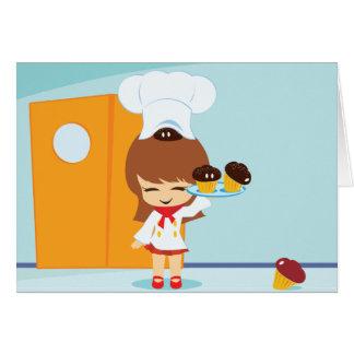 カップケーキ グリーティングカード