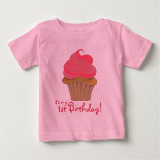 カップケーキ、第1誕生日! ベビーTシャツ