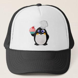 カップケーキIIを持つパン屋のペンギン キャップ