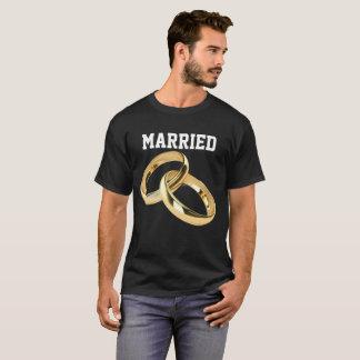 カップルのための黒いTシャツ Tシャツ