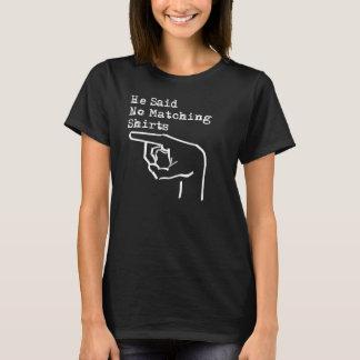 """カップルのための""""彼の及び彼女の物一致のワイシャツ無し"""" Tシャツ"""