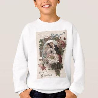 カップルのシャンペンのデイジーの鳩4の葉のクローバー スウェットシャツ