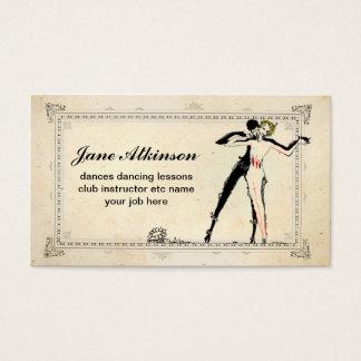 カップルの名刺を踊っているダンサー 名刺