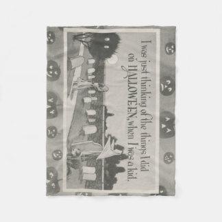 カップルの墓地の墓地の幽霊の悪ふざけ フリースブランケット