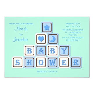 カップルの男の子のための男女共学のベビーシャワーの招待状 カード