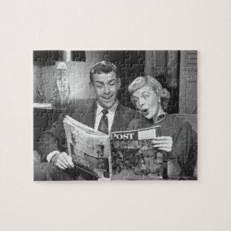 カップルの読書雑誌 ジグソーパズル