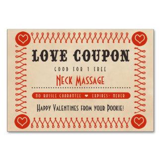 カップルバレンタインまたは記念日のための愛クーポン カード