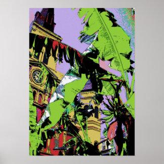 カテドラルおよびバナナの木 ポスター