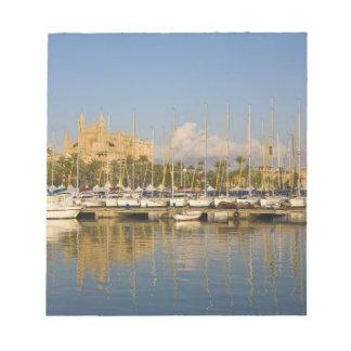 カテドラルおよびマリーナ、Palma、Mallorca、スペイン ノートパッド