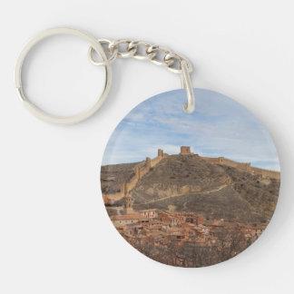 カテドラルおよび都市壁Albarracín、アラゴンスペイン キーホルダー