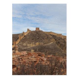 カテドラルおよび都市壁Albarracín、アラゴンスペイン ポストカード
