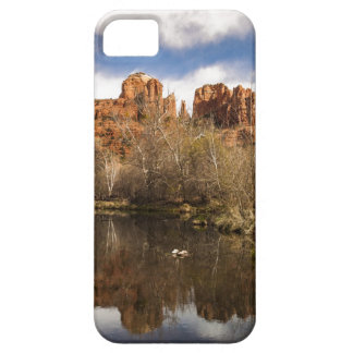 カテドラルの石の反射のポートレート iPhone SE/5/5s ケース