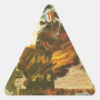 カテドラルの破壊のアレゴリー 三角形シール