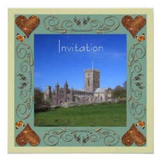 カテドラルの結婚式招待状カード カード