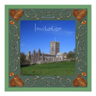 カテドラルの結婚式招待状カード 13.3 スクエアインビテーションカード