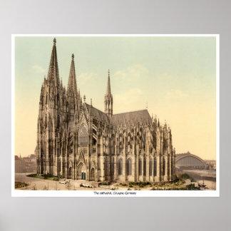 カテドラル、ケルン、ドイツ ポスター