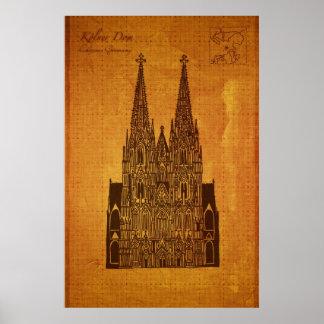 カテドラル: Hohe Domkircheセントピーターのundマリア ポスター