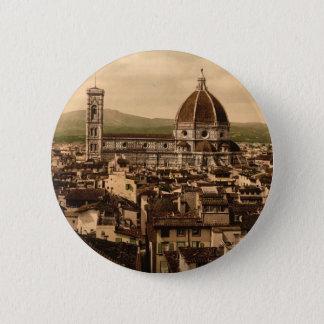 カテドラル、Vecchio宮殿からの全景、 5.7cm 丸型バッジ