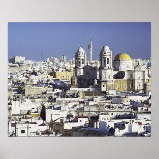 カディス、スペインの都市景観 ポスター