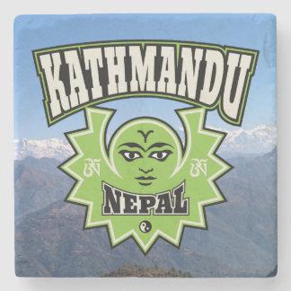 カトマンズネパールのヒマラヤ山脈の日曜日の月の記号 ストーンコースター