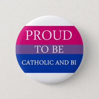 カトリック教およびBiがあること誇りを持った 5.7cm 丸型バッジ