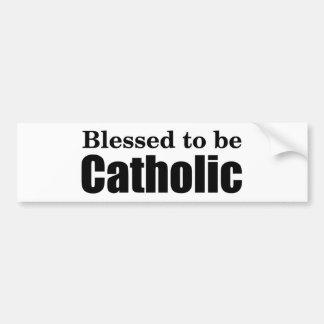 カトリック教があるために賛美される バンパーステッカー
