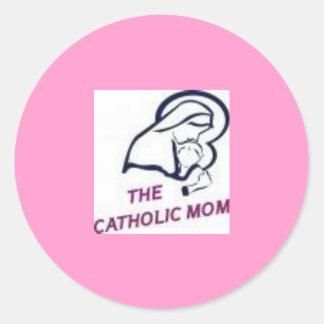 カトリック教のお母さんのステッカー ラウンドシール