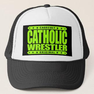 カトリック教のレスリング選手-神はフリースタイルレスリングを愛します キャップ