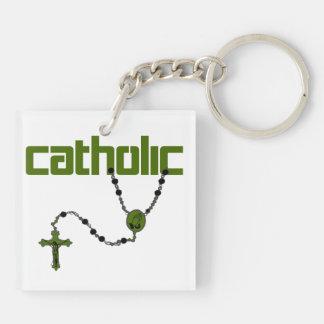 カトリック教の数珠 キーホルダー