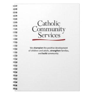 カトリック教の社会事業の螺線形ノート ノートブック