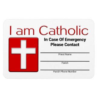 カトリック教の緊急の接触カード マグネット