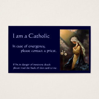 """カトリック教IDカード""""非常時には"""" 名刺"""