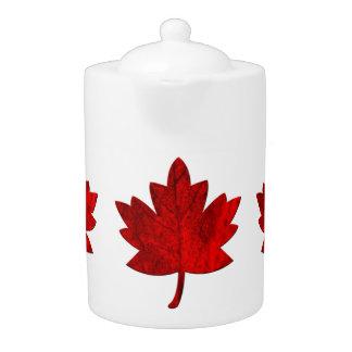 カナダかえでの葉のティーポット
