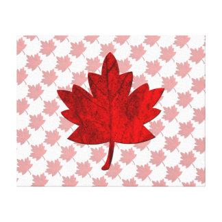 カナダかえでの葉 キャンバスプリント