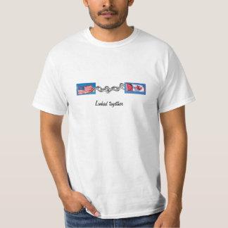 、カナダつながれる、米国のTシャツ Tシャツ