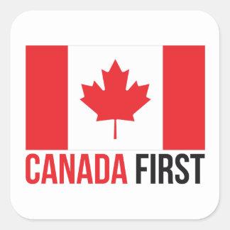 カナダにすばらしいカナダ人の最初旗MCGAを再度して下さい スクエアシール
