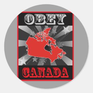 カナダに従って下さい ラウンドシール