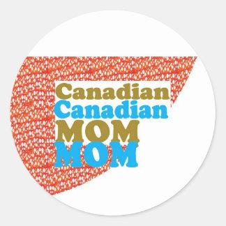 カナダのお母さんの   平和多様性の平等の歓迎 ラウンドシール