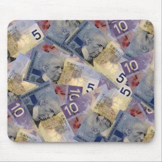 カナダのお金のマウスパッド マウスパッド
