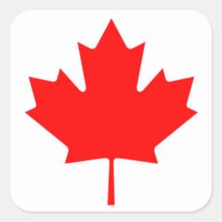 カナダのアメリカハナノキの葉のステッカーのカナダの旗 スクエアシール