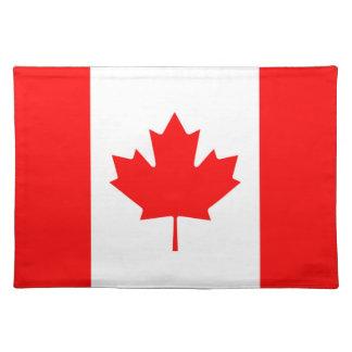 カナダのアメリカハナノキの葉のランチョンマットのカナダの旗 ランチョンマット