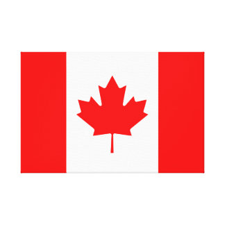 カナダのアメリカハナノキの葉のl'Unifoliéのカナダの旗 キャンバスプリント