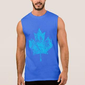 カナダのカエデの葉のグランジなスタイルカナダ 袖なしシャツ