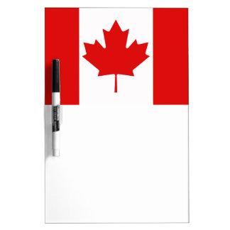 カナダのカエデの葉の旗 ホワイトボード